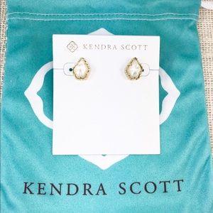 Kendra Scott Tessa ivory pearl gold earrings
